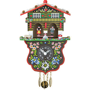 Black Forest Souvenir Clocks & Weather Houses Cuckoo Clock 1-day-spring-movement Black Forest Pendulum Clock-Style 19cm by Trenkle Uhren