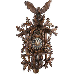 Carved Cuckoo Clocks Cuckoo Clock 8-day-movement Carved-Style 102cm by Hönes