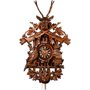 Carved Cuckoo Clocks Cuckoo Clock 8-day-movement Carved-Style 110cm by Hönes