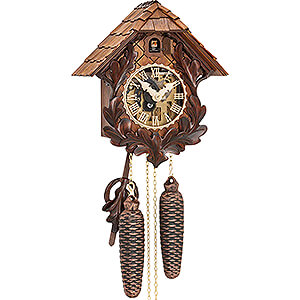 Carved Cuckoo Clocks Cuckoo Clock 8-day-movement Carved-Style 27cm by Hubert Herr