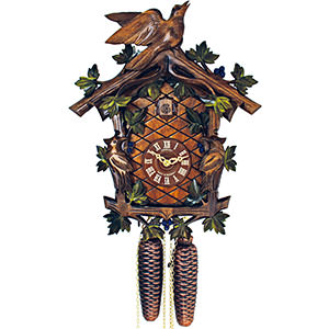 Carved Cuckoo Clocks Cuckoo Clock 8-day-movement Carved-Style 32cm by Anton Schneider