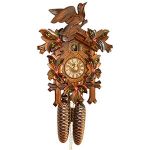 Carved Cuckoo Clocks Cuckoo Clock 8-day-movement Carved-Style 34cm by Anton Schneider