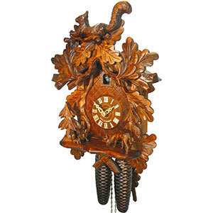 Carved Cuckoo Clocks Cuckoo Clock 8-day-movement Carved-Style 37cm by August Schwer