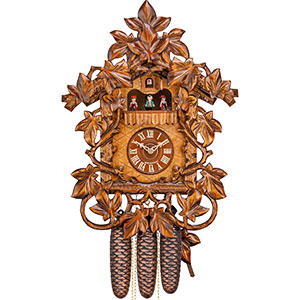Novelties Cuckoo Clock 8-day-movement Carved-Style 38cm by Hekas