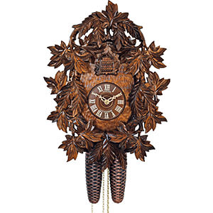 Carved Cuckoo Clocks Cuckoo Clock 8-day-movement Carved-Style 39cm by Anton Schneider