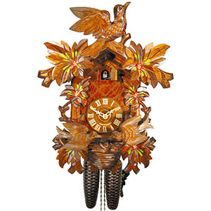 Carved Cuckoo Clocks Cuckoo Clock 8-day-movement Carved-Style 39cm by August Schwer