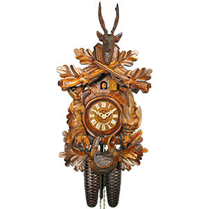 Carved Cuckoo Clocks Cuckoo Clock 8-day-movement Carved-Style 40cm by August Schwer