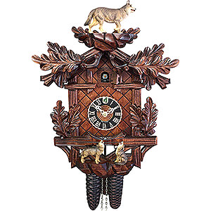 Carved Cuckoo Clocks Cuckoo Clock 8-day-movement Carved-Style 40cm by Hönes
