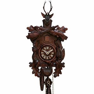 Carved Cuckoo Clocks Cuckoo Clock 8-day-movement Carved-Style 40cm by Hekas
