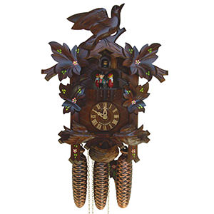Carved Cuckoo Clocks Cuckoo Clock 8-day-movement Carved-Style 42cm by Anton Schneider