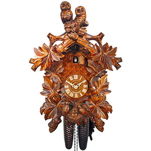 Carved Cuckoo Clocks Cuckoo Clock 8-day-movement Carved-Style 42cm by August Schwer