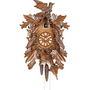 Carved Cuckoo Clocks Cuckoo Clock 8-day-movement Carved-Style 43cm by Hekas