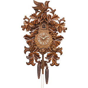 Carved Cuckoo Clocks Cuckoo Clock 8-day-movement Carved-Style 45cm by Hekas