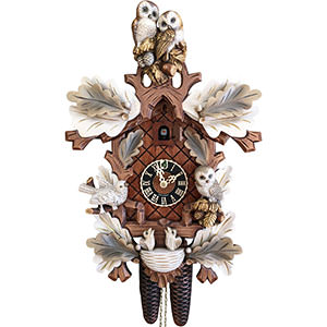 Carved Cuckoo Clocks Cuckoo Clock 8-day-movement Carved-Style 46cm by Hönes