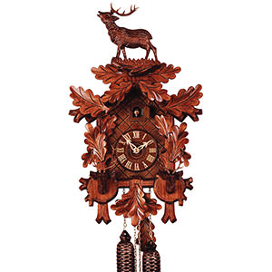 Carved Cuckoo Clocks Cuckoo Clock 8-day-movement Carved-Style 47cm by Rombach & Haas