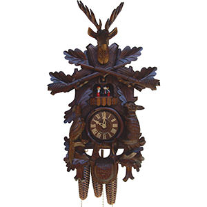 Carved Cuckoo Clocks Cuckoo Clock 8-day-movement Carved-Style 48cm by Anton Schneider