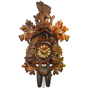 DISCONTINUED Cuckoo Clock 8-day-movement Carved-Style 48cm by August Schwer