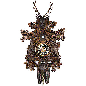 Carved Cuckoo Clocks Cuckoo Clock 8-day-movement Carved-Style 48cm by Hönes
