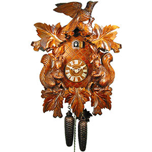 Carved Cuckoo Clocks Cuckoo Clock 8-day-movement Carved-Style 50cm by August Schwer