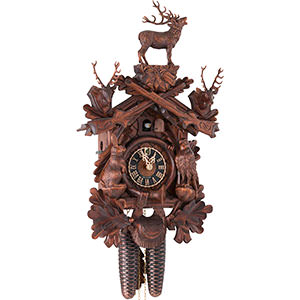 Chalet Cuckoo Clocks Cuckoo Clock 8-day-movement Carved-Style 50cm by Hönes