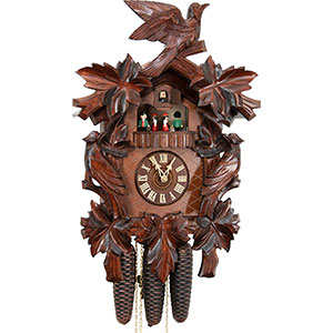 Carved Cuckoo Clocks Cuckoo Clock 8-day-movement Carved-Style 50cm by Hekas