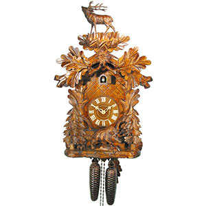 Carved Cuckoo Clocks Cuckoo Clock 8-day-movement Carved-Style 53cm by August Schwer