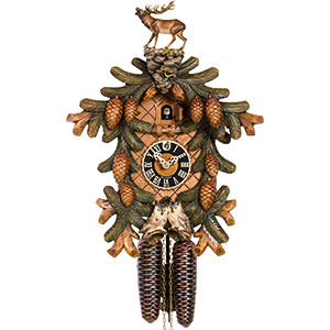 Novelties Cuckoo Clock 8-day-movement Carved-Style 53cm by Hönes