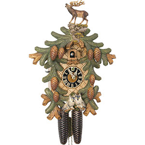 Carved Cuckoo Clocks Cuckoo Clock 8-day-movement Carved-Style 53cm by Hönes