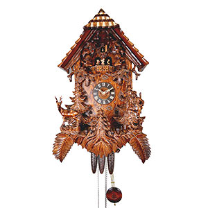 Carved Cuckoo Clocks Cuckoo Clock 8-day-movement Carved-Style 54cm by August Schwer