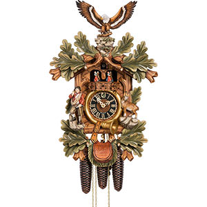 Chalet Cuckoo Clocks Cuckoo Clock 8-day-movement Carved-Style 56cm by Hönes