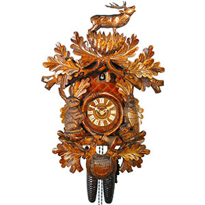 Carved Cuckoo Clocks Cuckoo Clock 8-day-movement Carved-Style 57cm by August Schwer