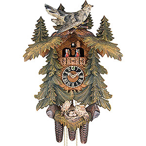 Novelties Cuckoo Clock 8-day-movement Carved-Style 57cm by Hönes