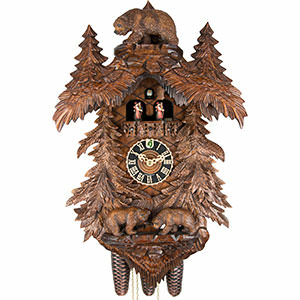 Carved Cuckoo Clocks Cuckoo Clock 8-day-movement Carved-Style 58cm by Hönes