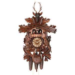 Carved Cuckoo Clocks Cuckoo Clock 8-day-movement Carved-Style 58cm by Hekas