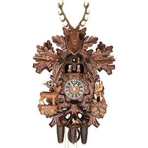 Carved Cuckoo Clocks Cuckoo Clock 8-day-movement Carved-Style 59cm by Hönes