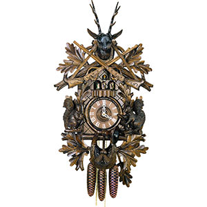 Carved Cuckoo Clocks Cuckoo Clock 8-day-movement Carved-Style 59cm by Hubert Herr