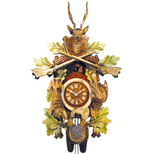 Carved Cuckoo Clocks Cuckoo Clock 8-day-movement Carved-Style 60cm by August Schwer