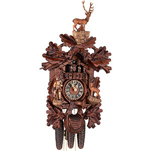 Carved Cuckoo Clocks Cuckoo Clock 8-day-movement Carved-Style 62cm by Hönes