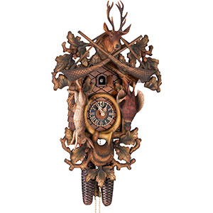 Novelties Cuckoo Clock 8-day-movement Carved-Style 62cm by Hönes
