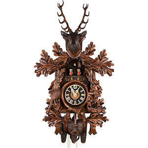 Carved Cuckoo Clocks Cuckoo Clock 8-day-movement Carved-Style 72cm by Hönes