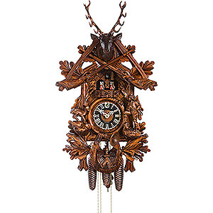 Carved Cuckoo Clocks Cuckoo Clock 8-day-movement Carved-Style 74cm by Hönes