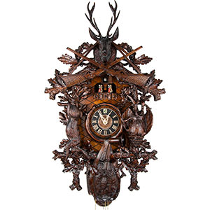 Carved Cuckoo Clocks Cuckoo Clock 8-day-movement Carved-Style 87cm by Hönes
