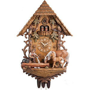 Chalet Cuckoo Clocks Cuckoo Clock 8-day-movement Carved-Style 87cm by Hönes