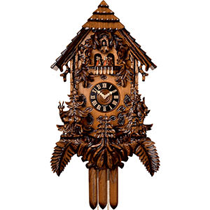 Carved Cuckoo Clocks Cuckoo Clock 8-day-movement Carved-Style 92cm by Hönes