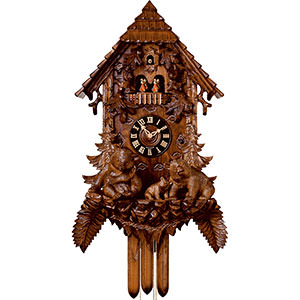 Chalet Cuckoo Clocks Cuckoo Clock 8-day-movement Carved-Style 92cm by Hönes