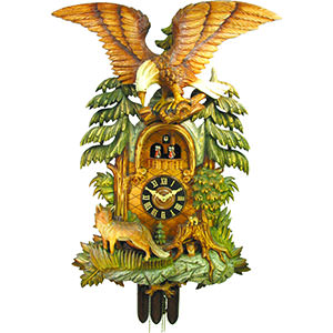 Carved Cuckoo Clocks Cuckoo Clock 8-day-movement Carved-Style 94cm by August Schwer