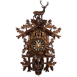 Carved Cuckoo Clocks Cuckoo Clock 8-day-movement Carved-Style 95cm by Hönes