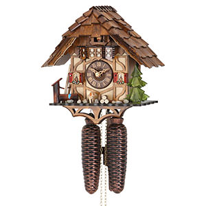 Chalet Cuckoo Clocks Cuckoo Clock 8-day-movement Chalet-Style 25cm by Hekas