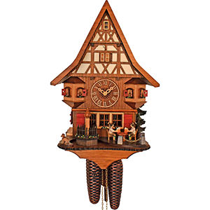 Chalet Cuckoo Clocks Cuckoo Clock 8-day-movement Chalet-Style 28cm by Anton Schneider
