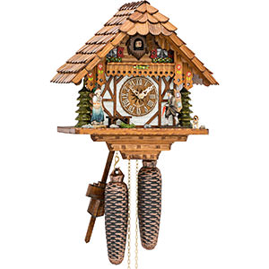 Chalet Cuckoo Clocks Cuckoo Clock 8-day-movement Chalet-Style 28cm by Hekas